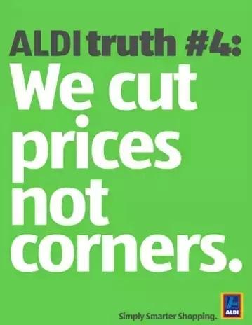 沃尔玛打的是 天天平价 ,阿尔迪也是将低价做到极致,ALDI是如何做图片